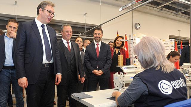 Sırbistan Cumhurbaşkanı Vuçiç'ten Eurotay'a ziyaret