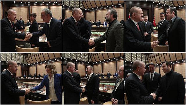 Cumhurbaşkanı Erdoğan sinema sektörü temsilcilerini kabul etti, yasayı imzaladı