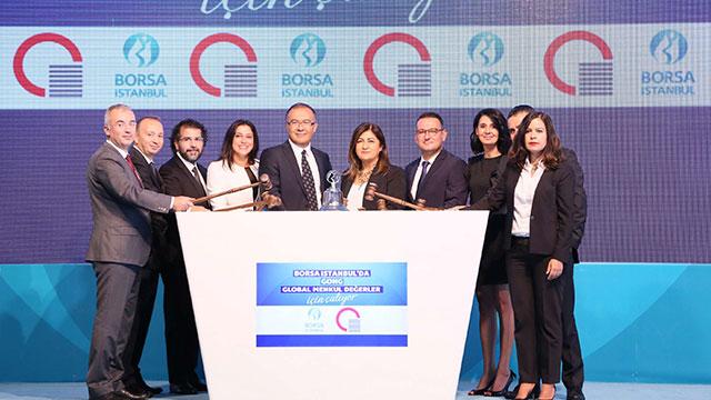 Global Menkul Değerler kuruluşunu gong töreni ile kutladı