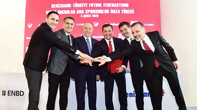 DenizBank, Milli Futbol Takımlarının ana sponsoru oldu