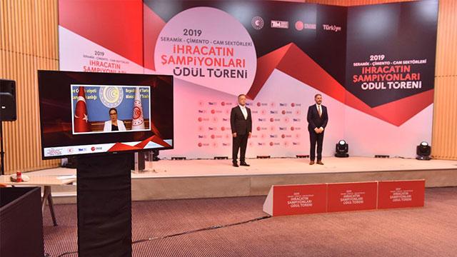 Seramik, Çimento, Cam sektörleri 2019 yılı ihracat şampiyonları belli oldu