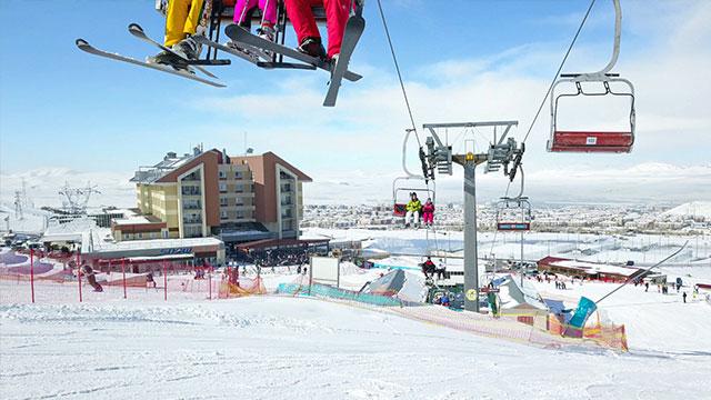 Erzurum Havalimanı kış turizmine hazır