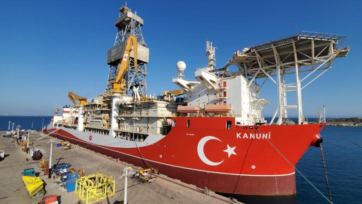 Kanuni gemisi sondaja hazırlanıyor