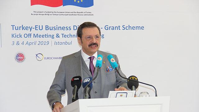 TOBB: Eşleştirme projeleri için AB'den 2,5 milyon euro hibe destek sağladık