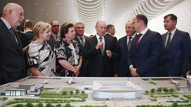 Türk şirket inşa etti, Putin açtı