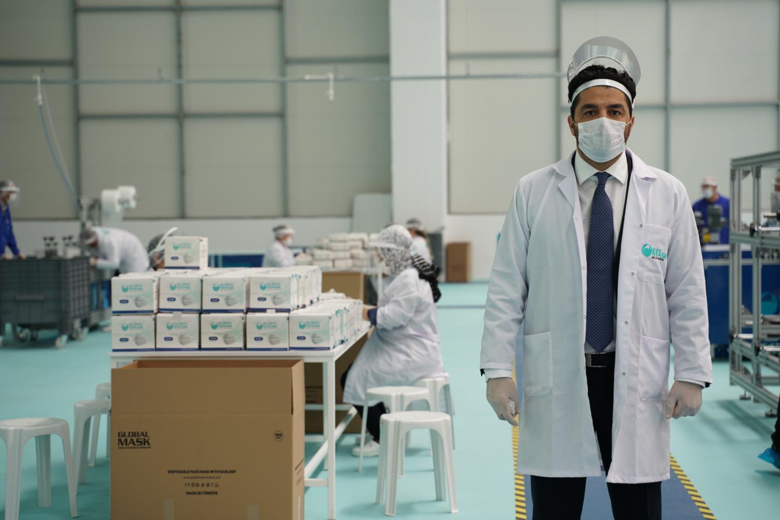 A&S Holding günde  1,2 milyon maskeyi hibe edecek