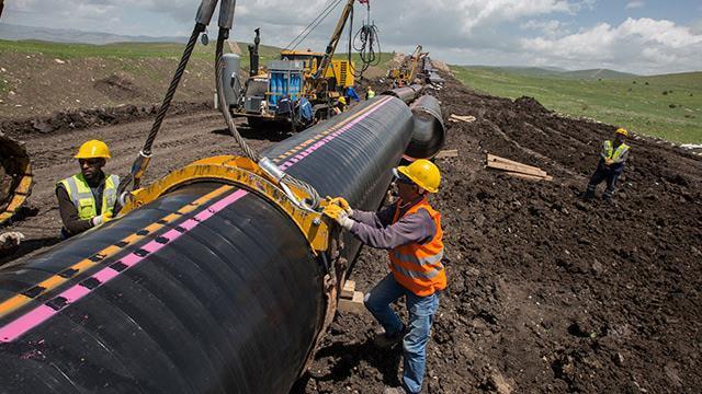 TANAP'tan 9.4 milyar metreküp doğalgaz