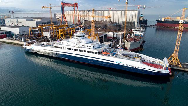 Türkiye'de üretilen elektrikli feribot Norveç sularında