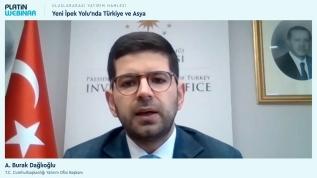Burak Dağlıoğlu: Çin'den ülkemize gelen yatırım projelerinin toplam değeri ise 2.5 milyar dolar