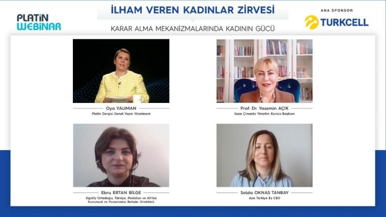 Turkcell ana sponsorluğundaki Platin Webinar'da 'İlham Veren Kadınlar' buluştu