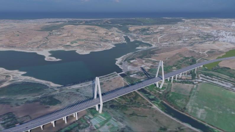 Kanal İstanbul'da ilk köprü inşa ediliyor