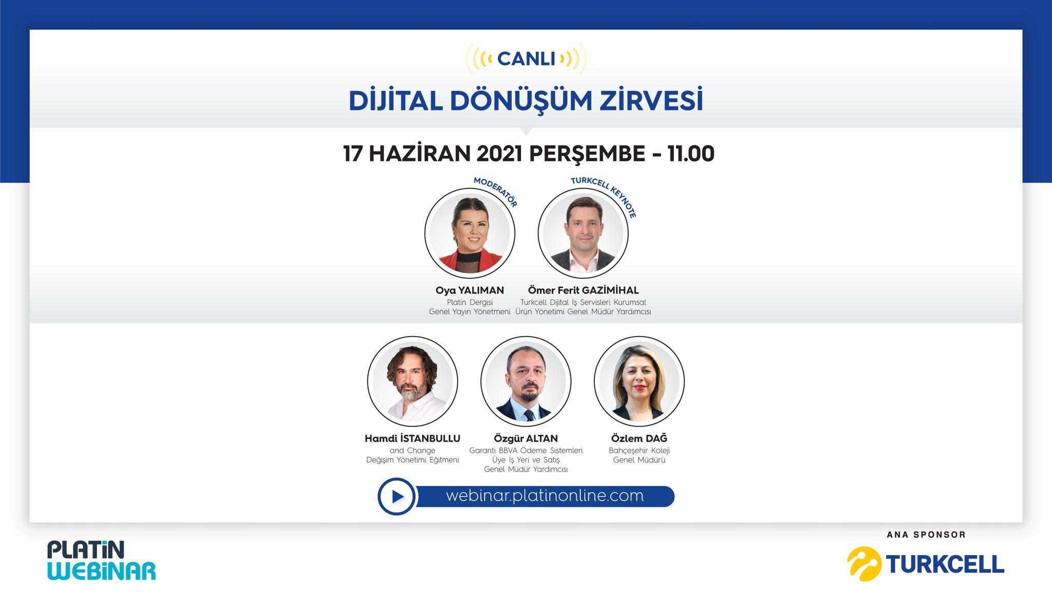 Turkcell sponsorluğunda Dijital Dönüşüm Zirvesi gerçekleşecek