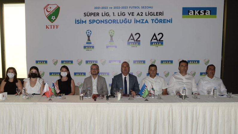 KKTC Süper Lig ve 1'inci Lig'in isim sponsoru, Aksa Enerji oldu