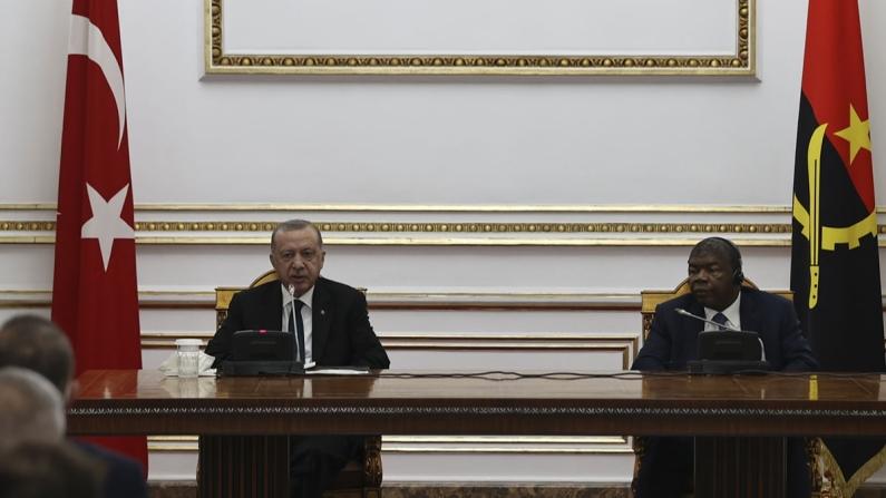 Erdoğan: Angola ile 7 anlaşma imzaladık